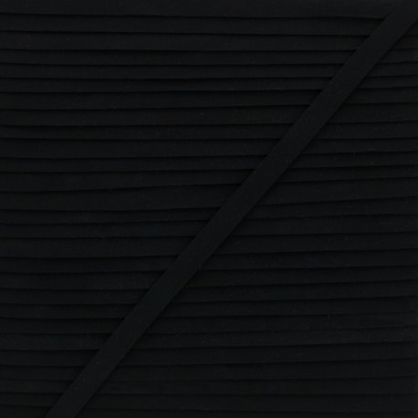 Swimsuit Rubber Tape - Black x 1m
