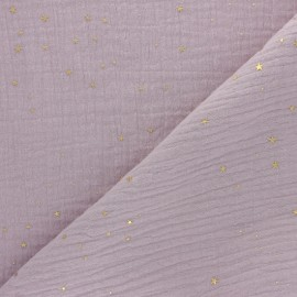 Double cotton gauze fabric - rose water Gold Galaxy x 10cm
