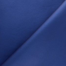 Imitation leather fabric - Blue Louxor x 10cm