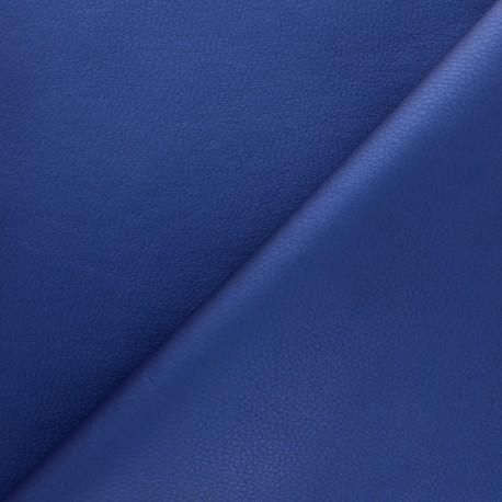 Imitation leather fabric - Blue Louxor x 10cm