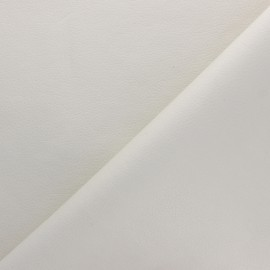 Imitation leather fabric - off-white Louxor x 10cm