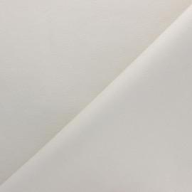 Tissu Simili cuir souple Louxor - écru nacré x 10cm