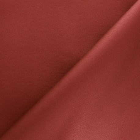 Imitation leather fabric - red Louxor x 10cm