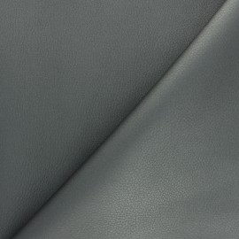 Imitation leather fabric - Dark grey Louxor x 10cm