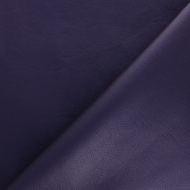 Imitation leather fabric - Purple Louxor x 10cm
