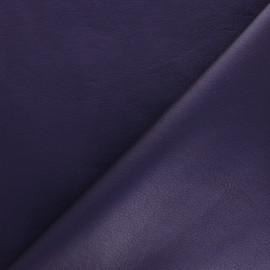Tissu Simili cuir souple Louxor - violet x 10cm