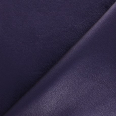 Imitation leather fabric - Dark grey Louxor x 10cm
