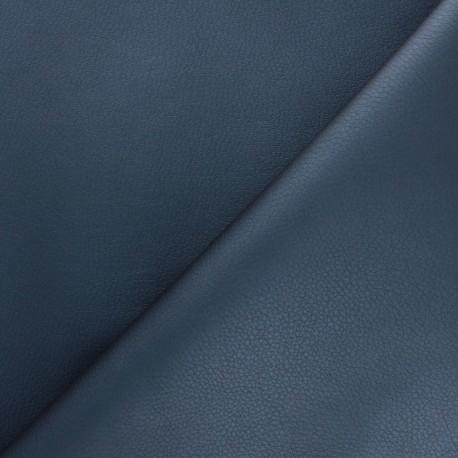 Tissu Simili cuir souple Louxor - bleu nacré x 10cm