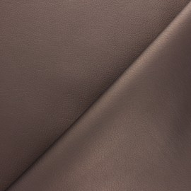 Imitation leather fabric - Glossy Chestnut Louxor x 10cm