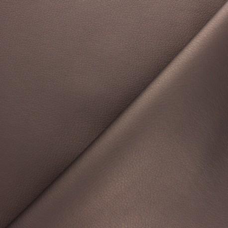 Imitation leather fabric - Bronze Louxor x 10cm