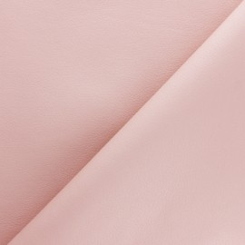 Imitation leather fabric - Powder pink Louxor x 10cm