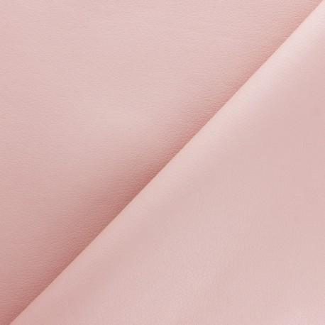 Imitation leather fabric - Glossy Chestnut Louxor x 10cm