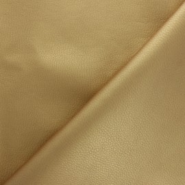 Imitation leather fabric - Gold Louxor x 10cm