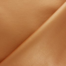 Imitation leather fabric - Copper Louxor x 10cm