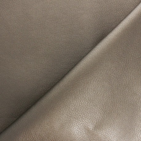 Imitation leather fabric - Bronze Louxor x 10cm