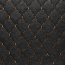 Quilted Leather Imitation - dark grey Chesty x 10cm
