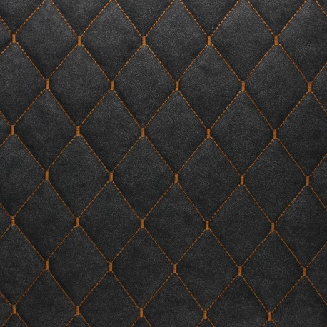 Quilted Leather Imitation - tobacco Chesty x 10cm