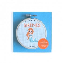 Kit Prêt à Broder - Sirènes