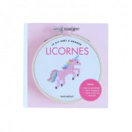 Kit Prêt à Broder - Licornes