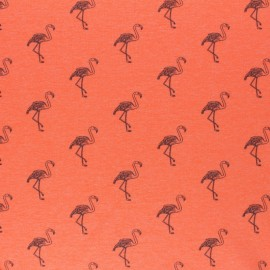 Tissu jersey fluo chiné Flamingo - rose x 10cm
