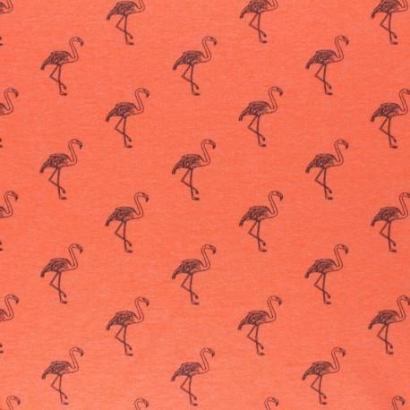 mottled Jersey fabric - pink Flamingo x 10cm