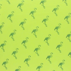 mottled Jersey fabric - yellow Palm tree x 10cm