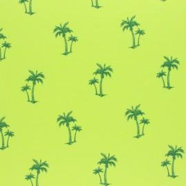 Tissu jersey fluo chiné Palmier - vert x 10cm