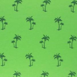 mottled Jersey fabric - Green Palm tree x 10cm