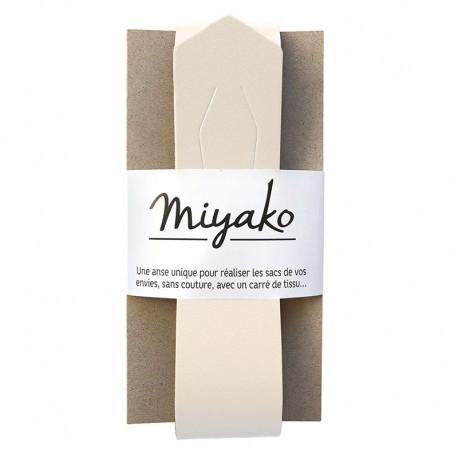 Miyako leather handle - camel