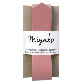 Miyako leather handle - Blush