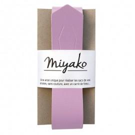 Anse en cuir Miyako - Mauve