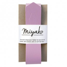 Miyako leather handle - Lilac