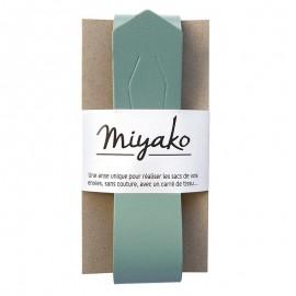 Anse en cuir Miyako - Vert sauge