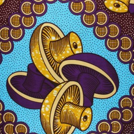 Metallic Wax print fabric - Purple Etosha x 10cm
