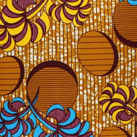 Wax print fabric - yellow Aari x 10cm