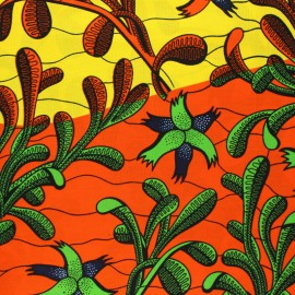 Tissu Wax Makaukau - jaune x 10cm
