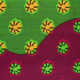 Wax print fabric - green Kafue x 10cm