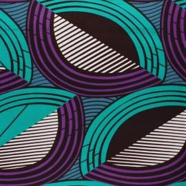 Tissu Wax Odzala - violet x 10cm