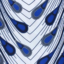 Wax print fabric - White Chobe x 10cm