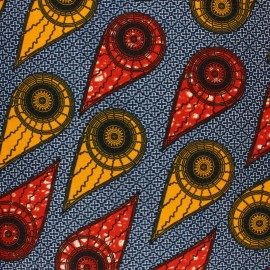 Wax print fabric - pink Mudumu x 10cm