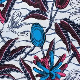Tissu Wax Hardap - blanc x 10cm