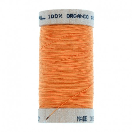 Organic Sewing Thread 100m - Pumpkin Orange