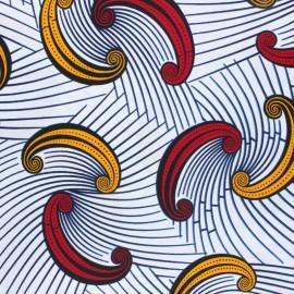 Wax print fabric - White Chizarira x 10cm