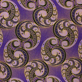 Tissu Wax Bamingui - violet x 10cm