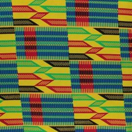 Tissu Wax à Paillettes Bontioli - jaune x 10cm