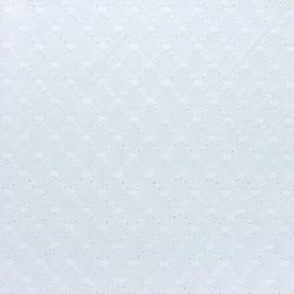 Tissu Voile de coton broderie anglaise Portobello - blanc cassé x 10cm