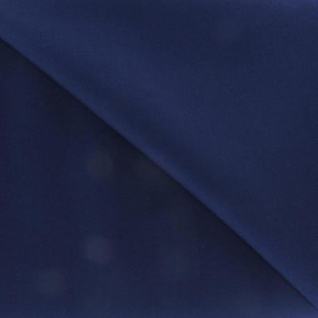Satiny Lycra Gabardine Fabric - Navy x 10cm