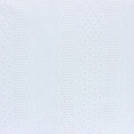 Openwork cotton fabric - white Marylebone x 10cm