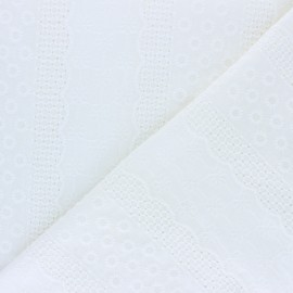Openwork cotton fabric - off-white Marylebone x 10cm