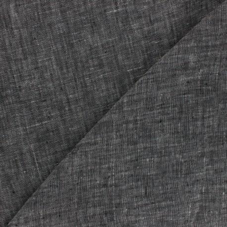 Tissu chambray 100% lin - naturel x 10cm